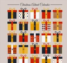 礼盒圣诞月月历图片