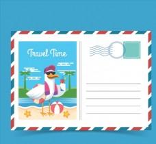 度假海鸥明信片图片