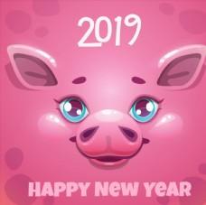 新年粉豬賀卡圖片