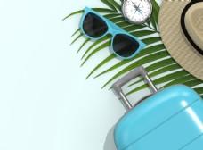 旅游旅行太陽鏡背景素材圖片