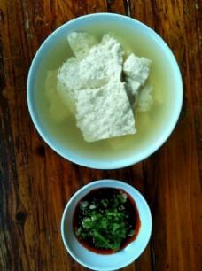 豆花饭 水豆腐 蘸料 特色美食图片