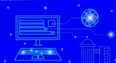 蓝色背景科技素材图片