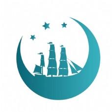 扬帆起航logo设计图片