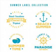 夏季度假标签图片