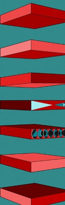長方體 盒子 模型 psd圖片