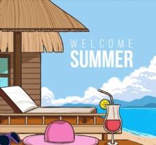 海边度假屋风景图片