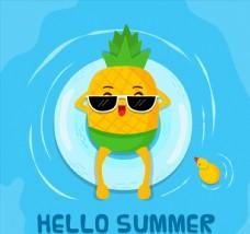 海上玩水的菠萝图片