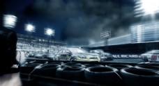 汽车比赛场景图片