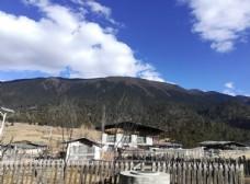 大山藏区山村建筑图片