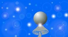 蘑菇上的星球图片