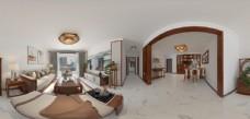中式客厅全景图片