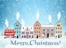 圣诞雪景图片