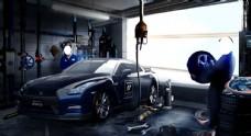 修理汽车场景图片