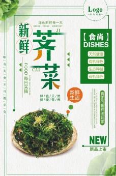 新鲜荠菜营养健康蔬菜海报图片