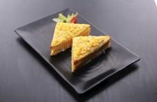 玉米炭烧三明治图片
