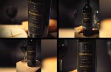 红酒瓶样机图片