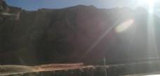大山日落光芒风景图片