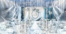 蓝色婚礼效果图图片