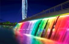 彩色瀑布图片