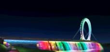 桥体夜景设计图片