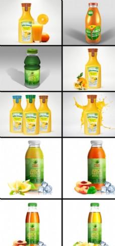 果汁包装样机图片