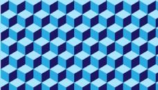 立体空间背景 蓝色 背景 屏保图片