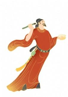 国潮风格古代人物插画图片