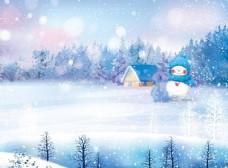 大雪纷飞图片
