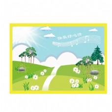 田园海报图片