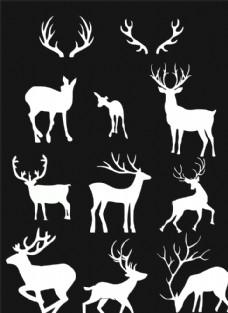 中国鹿元素图片